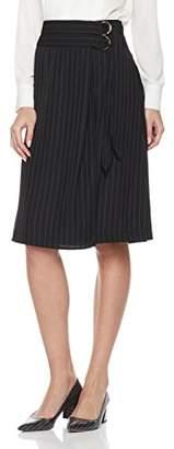 Essentialist Women's Midi Length Skirt with Double Belt Closure