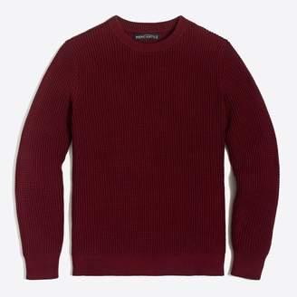 J.Crew Factory Cotton waffle crewneck sweater