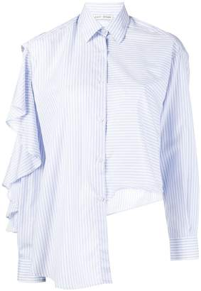 Each X Other ruffled striped shirt