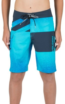 Toddler Boy's Volcom Logo Party Pack Mod Board Shorts $42 thestylecure.com