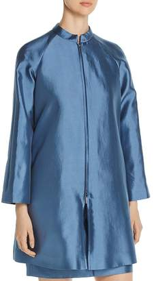 Giorgio Armani Pleated-Back Zip Coat