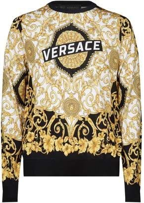 Versace Silk Knit Baroque Sweater