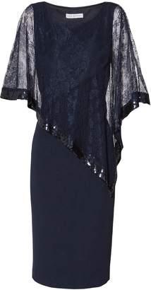 Next Womens Gina Bacconi Navy Kamila Lace Cape Dress