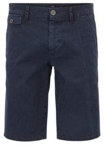 BOSS Hugo Regular-fit shorts in cotton Bedford corduroy 34R Dark Blue