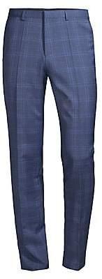 HUGO Men's Hets Extra Slim-Fit Plaid Virgin Wool Pants