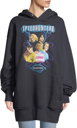 Balenciaga Oversized Speedhunters Tour Graphic Hoodie