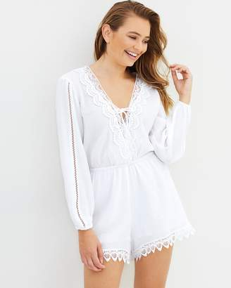 Seafolly Lace Trim Playsuit