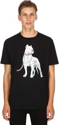 Marcelo Burlon County of Milan Dogo Print Cotton Jersey T-Shirt