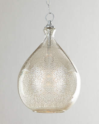 Horchow Mercury-Glass 1-Light Pendant