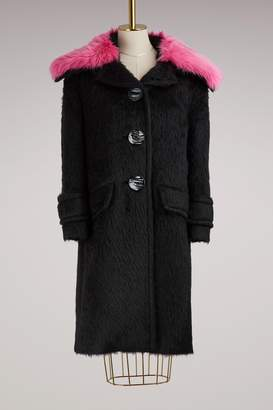 Prada Oversized coat with detachable collar