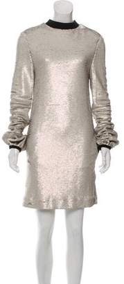 Rachel Zoe Sequin Mock Neck Dress