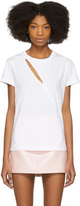 Courreges White Diagonal Cutting T-Shirt