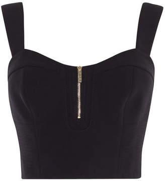 Karen Millen Zip Front Cropped Top