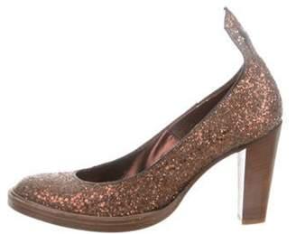 A.F.Vandevorst A.f. Vandevorst Glitter Round-Toe Pumps Bronze A.f. Vandevorst Glitter Round-Toe Pumps