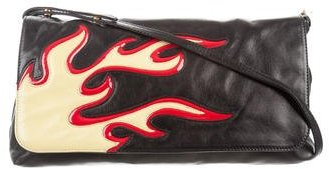 pradaPrada Nappa Flames Crossbody Bag