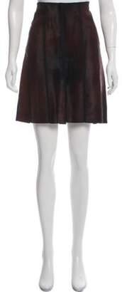 Prada Calf Hair Knee-Length Skirt Brown Calf Hair Knee-Length Skirt