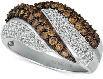 LeVian Le Vian Chocolatier Diamond Swirl Ring (1-1/8 ct. t.w.) in 14k White Gold