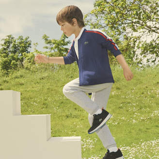 Lacoste (ラコステ) - Boys コントラストストライプ フリース テディネックスウェットシャツ