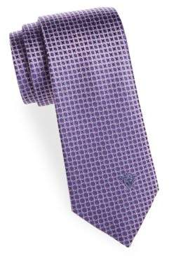 Versace Silk Geometric Tie