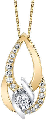 Sirena Womens 3/8 CT. T.W. Genuine White Diamond 14K Gold Pendant