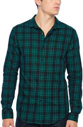 Jf J.Ferrar Long Sleeve Plaid Button-Front Shirt