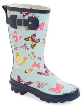 Girl's Western Chief Classic Butterfly Floral Rain Boot $45 thestylecure.com