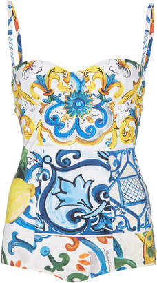 Dolce & Gabbana Fruits & Floral Sweetheart One-Piece Swimsuit