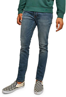 Topman Mid-Wash Stretch Slim Jeans
