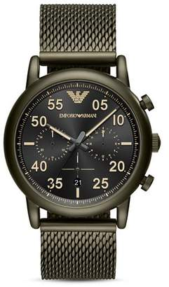 Emporio Armani Women's Two Hand Black Leather Watch, 32 mm