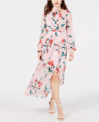GUESS Kellyanne Floral-Print High-Low Dress