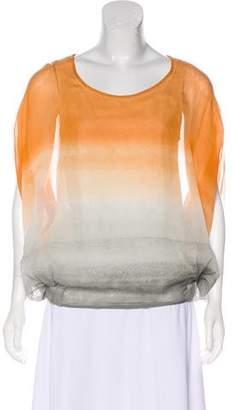 Diane von Furstenberg Short Sleeve Draped Top