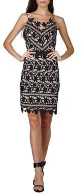Adelyn Rae Whitney Lace Sheath Dress