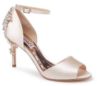 Badgley Mischka Vienna Crystal Embellished Ankle Strap Pump