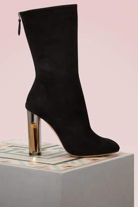 Alexander McQueen Suede Heel Boots