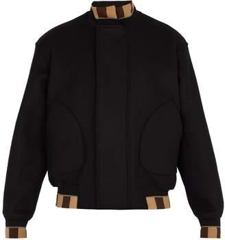 Fendi Wool-blend bomber jacket