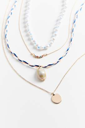 Urban Outfitters Lea Shell + Pearl Layer Necklace Set
