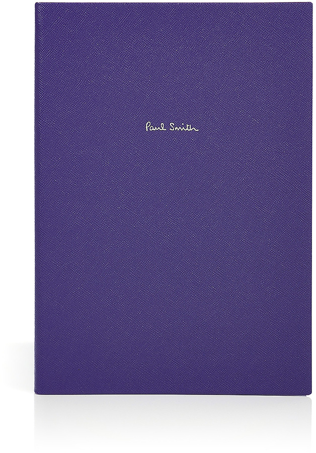 Paul Smith Violet Saffiano Leather Notebook