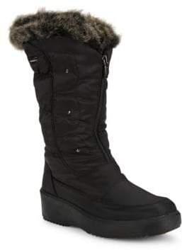 Pajar Louise Faux Fur-Trimmed Mid-Calf Boots