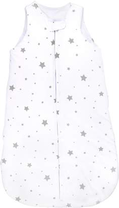 Co Ely's & Baby Wearable Blanket- Sleep Bag Winter Weight Grey Stars for Baby Girl or Boy
