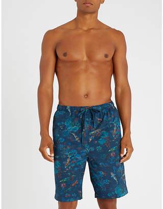 Derek Rose Enchanted Pond cotton shorts