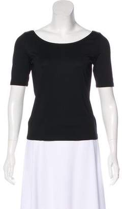 Ellen Tracy Silk Scoop Neck T-Shirt