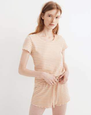 4a42de5710a3 Madewell Ruffled Pajama Shorts in Stripe