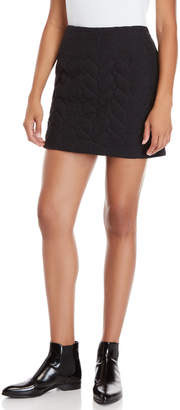 Maje Quilted Mini Skirt