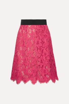 Dolce & Gabbana Guipure Lace Skirt - Pink