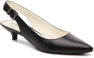 da3b87bca99 Anne Klein Black Slingback Pumps - ShopStyle