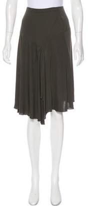 Blumarine Crepe Asymmetrical Skirt