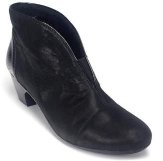 Rieker Women's Leather Mid Heel Slip On Shoe Boot Uk 6 - Eu 39 - Us 8