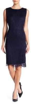 Tahari Sleeveless Lace Shift Dress