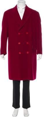 Emporio Armani Virgin Wool Double-Breasted Coat
