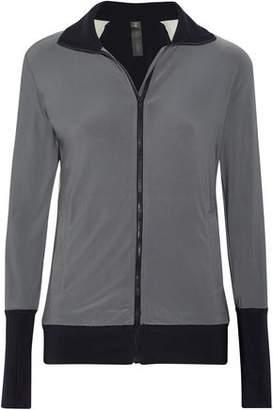 Norma Kamali Color-Block Stretch-Jersey Jacket